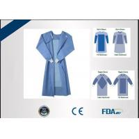 China Fluid Resistant Disposable Surgical Gown For Virus Contaminated Areas on sale
