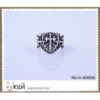 Best Unique design 316l Stainless Steel Cross Ring H-JK0050 with Competitive Price wholesale