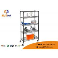 China Movable Adjustable Wire Storage Shelve Powder Coating 6 Tier Heavy Duty on sale