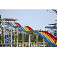 Best 6mm Fiber Glass Water Slide Games For Water Amusement Park / Holiday Resort wholesale
