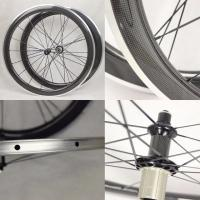 Buy cheap 50mm Carbon Aluminium Clincher Wheels EN-14766 With Alloy Breaking Surface from wholesalers