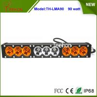 """Best 90w 16.6"""" 9-30V combo single stack offroad led light bar with amber and transparent cover wholesale"""