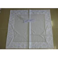 Best Beige Color Linen Like Tablecloths Square Shaped With ISO9001 Certificated wholesale