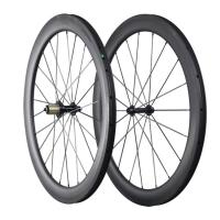 China Wholesale ICAN carbon road bike wheels 55mm deep Tubular 25mm wide with 100% Carbon Fiber Toray T700 on sale