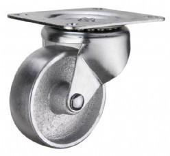 China light duty 3 swivel steel fat caster ,  3 inch rigid industry steel casters caster silver on sale