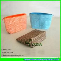 China LUDA ladys handbags purses for sale small  paper straw purse clutch bags on sale