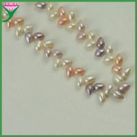 China Wholesale price mix color drop shape fresh water pearl bead necklace chain on sale
