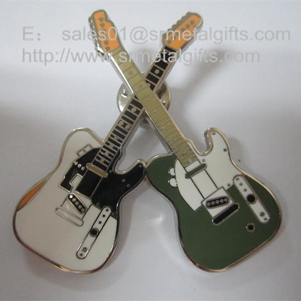 color filled metal Violin lapel pins