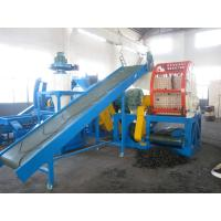 Best 48KW Waste Tyre Recycling Equipment , PE / Rubber Tire Shredder Machine wholesale