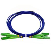 China Armored Optical Fiber Patch Cord E2000 APC Duplex Fiber Count High Indentation Strength on sale