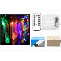 Best Indoor Battery Operated LED String Lights Warm White / Red Water Drop Shape wholesale