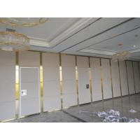China 4m Height Operable Partition Walls Aluminium Alloy And MDF Board Door Material on sale