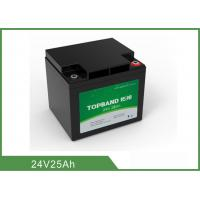 Best 24V 25Ah Medical Device Battery , Medical Cart Battery Deep Cycle wholesale