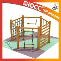 Best Non Toxic Childrens Wooden Climbing Frame 304 Stainless Fasteners Safe And Reliable wholesale