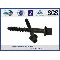 Buy cheap High Tensile Railway Sleeper Screws HDG Plain Oiled Surface Material Q235 Grade 4.6 product
