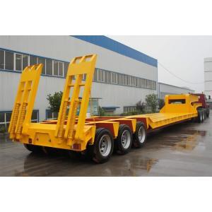 Best Low Bed 4 Axle Heavy Duty Lowboy Truck Trailer / Container Diesel Semi Tractor wholesale