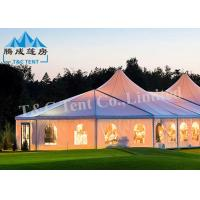 China Clear Span Wedding Reception Tent Selectable Size Soft PVC Walls / Glass Walls on sale