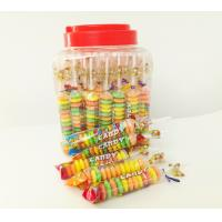 Best Colorful and Sweet Multi Fruit Flavor Roll Healthy Hard Compress Candy in Jars wholesale