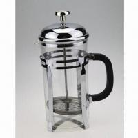 Best Coffee Pot with Strainer Inside, Made of Stainless Steel Outer Shell and Natural Pyrex Glass wholesale