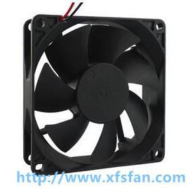 80*80*20mm 12V/24V DC Black Plastic Brushless Axial Flow Fan for Stereo Amplifier