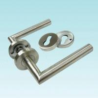 China Stainless Steel Lever Door Handle with Satin Finish on sale
