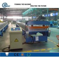 Buy cheap Corrugated Roof Panel Roll Forming Machine , Metal Roofing Sheet Making Machine product