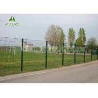 Best Sunshine Proof 868 Double Loop Wire Fence , Green PVC Coated Wire Mesh Fencing  wholesale