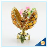 Best Easter Decoration Gift/Best selling Egg Shape/ Rhinestone Metal Craft wholesale