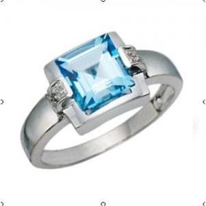 China Diamond Ring(Blue topaz diamond ring) on sale