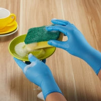 Buy cheap Inspection Anti Pollution Stretchable Nitrile And Latex Gloves from wholesalers