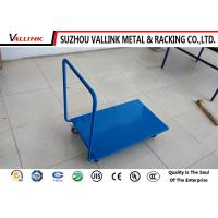 China Disassemble Blue Steel Platform Trolley Medium Duty 730*450*900mm on sale