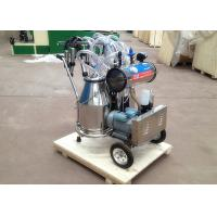 Buy cheap Two Buckets Mobile Milking Machine , Vacuum Pump Dairy Milking Equipment product