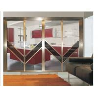 Best Interior Partition Metal Sliding Doors, Aluminum Frame Modern Sliding Glass Room Dividers wholesale