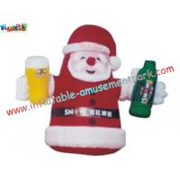 China Snowman, Santa Claus 420D PVC coated nylon Inflatable Christmas yard Decorations on sale