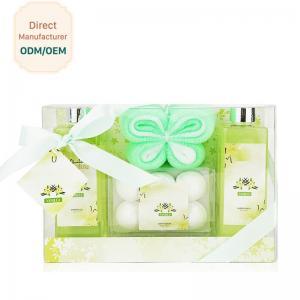 China Fresh Relaxing Bath Gift Sets / Bath Bomb Gift Sets Seductive Vanilla Fragrance on sale