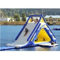 Best 5.5m Large Diameter Floating Water Slide , Blow Up Water Slide Fire Proof Vinyl Tarpaulin wholesale