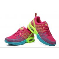 China Flyknit Fly woven athletic air cushion outsole height increased breathable antiskid damping outdoor sports shoes on sale