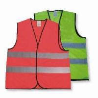 Best Reflective Vest, Customized Specifications are Accepted, Made of 100% Polyester wholesale