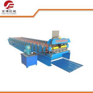 Best Hydraulic Aluminium High Rib Trapezoidal Sheet Roll Forming Machine for Construction wholesale