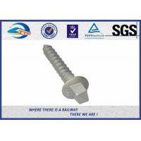 Buy cheap Railway Track Sleeper Screw Spike with Slotting Head plain black galvanized product