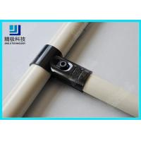 Best Adjustable Metal Joint for Pipe Rack , Thickness 23mm  T-Type Black Tubing Joint HJ-1 wholesale
