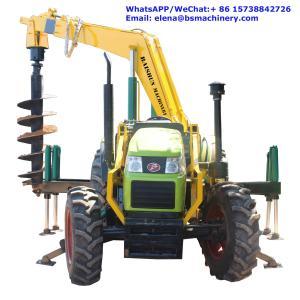 Best High Speed Pole Erection Machine For Frozen Soil 150-2000mm Drilling Diameter wholesale