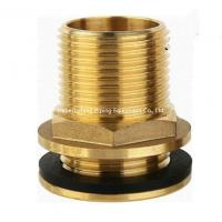 Best 15mm od yellow brass color forged brass compression fitting straight threaded water tank connector wholesale