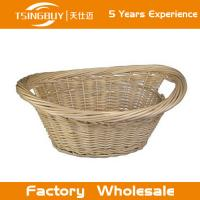 China Factory wholesale high quality 100% nature handcraft baby gift basket decoration rattan wicker bread baskets on sale