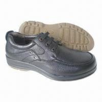 China Men's dress shoes, genuine leather shoes with PU outsole on sale