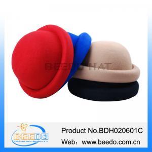 China Beautyful bowler women derby hats on sale