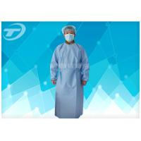 China PP Nonwoven Medical Disposable Hospital Gowns With Tie / Magic Stick on sale