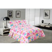 Best Cake Pattern Printed Quilt Set Washable 240x260 / 260x280cm Bed Cover Sizes wholesale