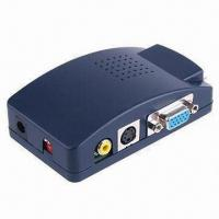 Best VGA to AV (CVBS) + S-VIDEO Converter Box, with OSD Operation Display wholesale