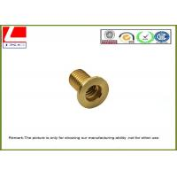 Buy cheap CNC Machining precision stainless steel / brass pin shaft Passed ISO 9001 product